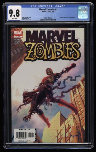 Marvel Zombies #1 CGC NM/M 9.8 White Pages Amazing Fantasy #15 Homage!