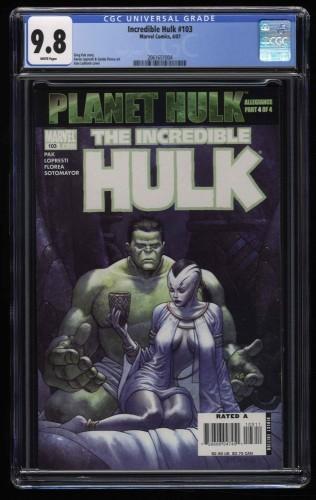 Incredible Hulk (2000) #103 CGC NM/M 9.8 White Pages