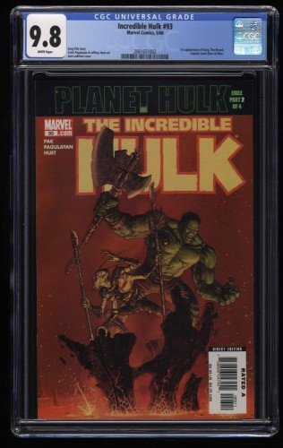 Incredible Hulk (2000) #93 CGC NM/M 9.8 White Pages