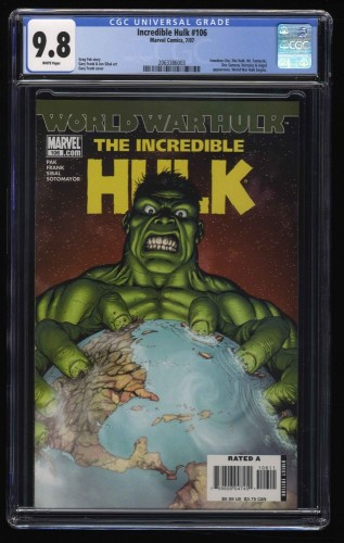 Incredible Hulk (2000) #106 CGC NM/M 9.8 White Pages