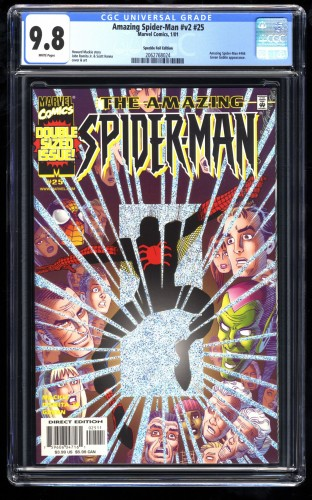 Amazing Spider-Man #25 CGC NM/M 9.8 White Pages Speckle Foil Variant