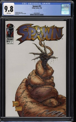 Spawn #51 CGC NM/M 9.8 White Pages