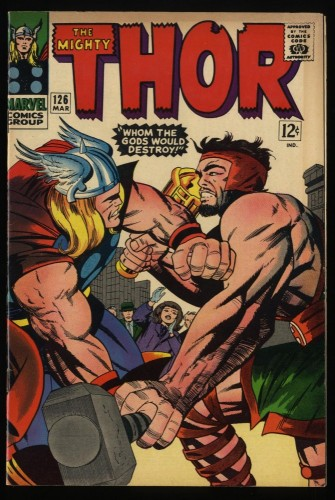 Thor #126 FN+ 6.5 Marvel Comics