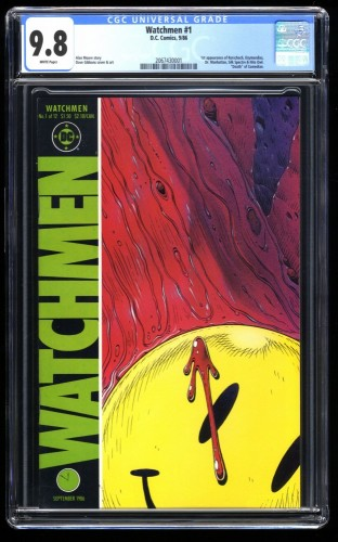 Watchmen #1 CGC NM/M 9.8 White Pages