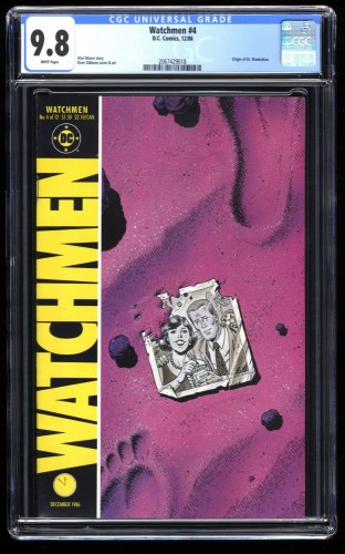 Watchmen #4 CGC NM/M 9.8 White Pages