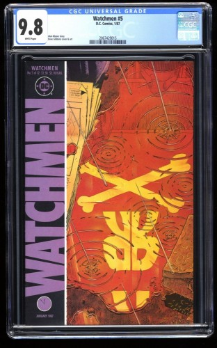 Watchmen #5 CGC NM/M 9.8 White Pages