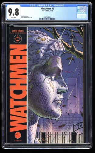 Watchmen #2 CGC NM/M 9.8 White Pages