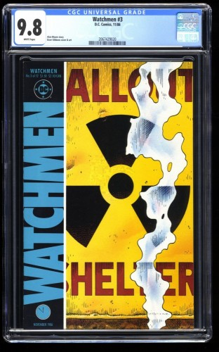 Watchmen #3 CGC NM/M 9.8 White Pages