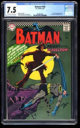 Batman #189 CGC VF- 7.5 Off White to White 1st Silver Age Scarecrow!