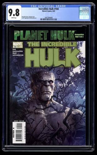 Incredible Hulk (2000) #104 CGC NM/M 9.8 White Pages Planet Hulk!
