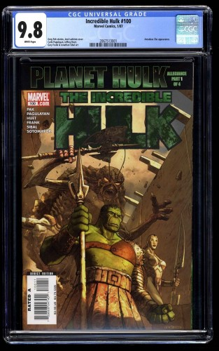 Incredible Hulk (2000) #100 CGC NM/M 9.8 White Pages Planet Hulk!