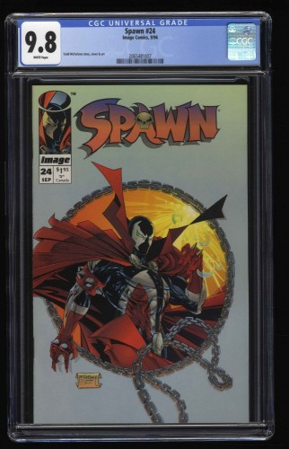 Spawn #24 CGC NM/M 9.8 White Pages