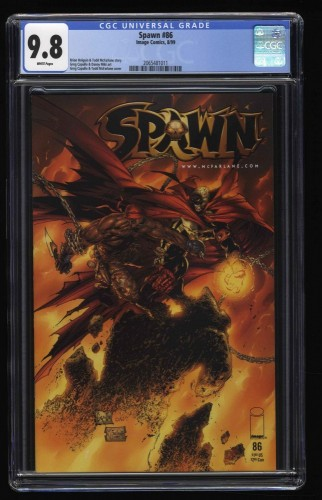 Spawn #86 CGC NM/M 9.8 White Pages