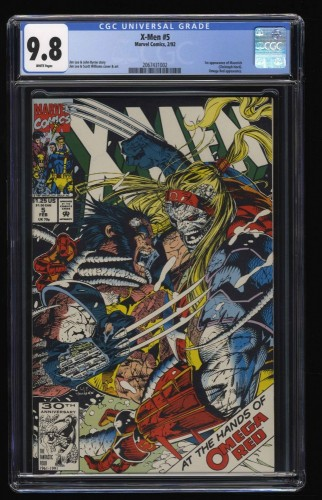 X-Men (1991) #5 CGC NM/M 9.8 White Pages 2nd Omega Red!