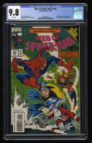 Web of Spider-Man #106 CGC NM/M 9.8 White Pages