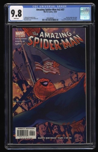 Amazing Spider-Man nn CGC NM/M 9.8 White Pages Marvel Comics Spiderman