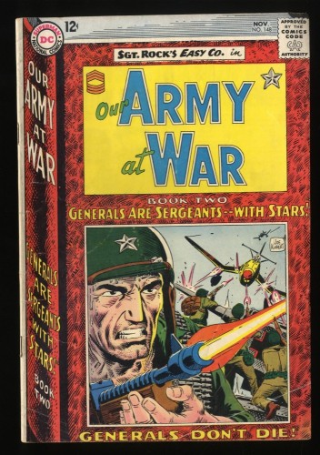 Our Army at War #148 VG- 3.5