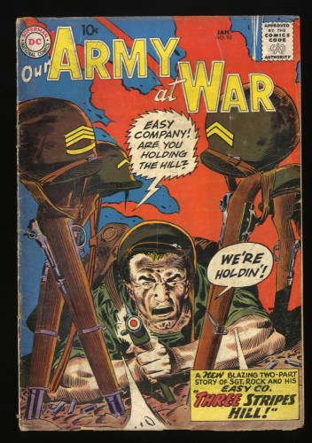 Our Army at War #90 GD/VG 3.0 Early Sgt. Rock - How Rock became a Sergeant!