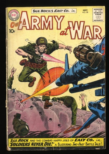 Our Army at War #98 GD+ 2.5 Early Sgt. Rock!