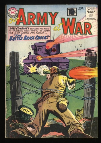 Our Army at War #123 VG- 3.5