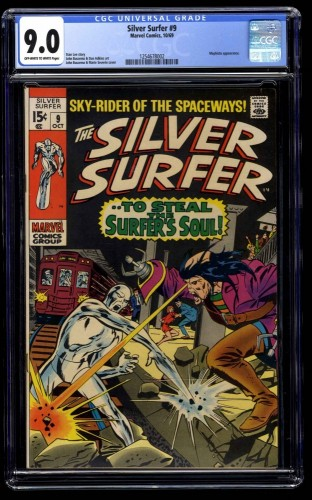 Silver Surfer #9 CGC VF/NM 9.0 Off White to White