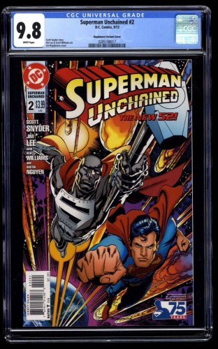 Superman Unchained #2 CGC NM/M 9.8 Bogdanove Variant Cover!