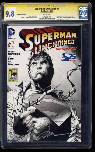 Superman Unchained #1 CGC NM/M 9.8 SS signed by Jim Lee Convention Edition!