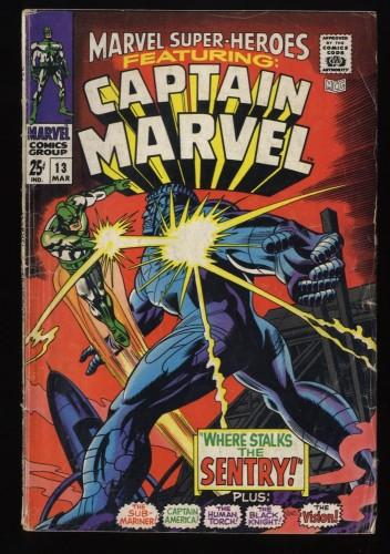 Marvel Super-Heroes #13 GD/VG 3.0 Comics 1st Carol Danvers!