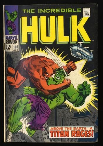 Incredible Hulk (1968) #106 FN- 5.5 Marvel Comics