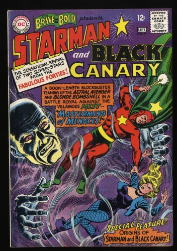Brave And The Bold #61 FN- 5.5 Starman Black Canary!