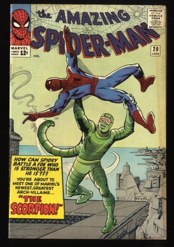 Amazing Spider-Man #20 FN- 5.5 1st Scorpion! Marvel Comics Spiderman