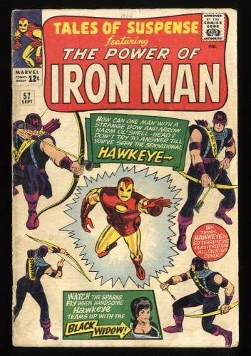 Tales Of Suspense #57 GD/VG 3.0 Iron Man 1st Hawkeye!