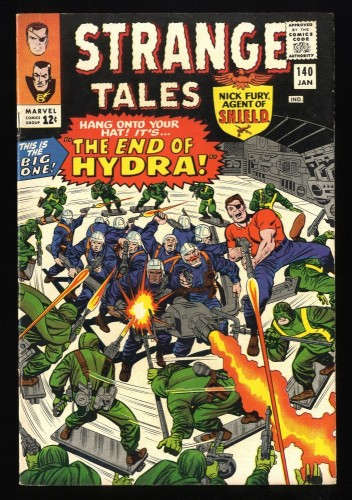 Strange Tales #140 VF- 7.5 Marvel Comics Nick Fury Doctor Strange Torch
