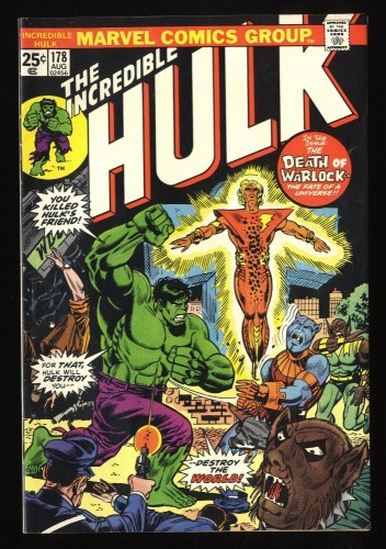 Incredible Hulk (1968) #178 FN+ 6.5 Death of Adam Warlock! Marvel Comics