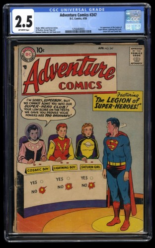 Adventure Comics #247 CGC GD+ 2.5 Off White DC Superman