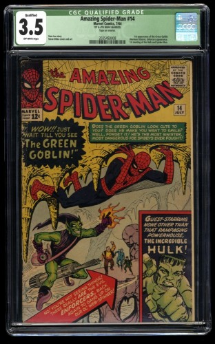 Amazing Spider-Man #14 CGC VG- 3.5 Qualified 1st Green Goblin!