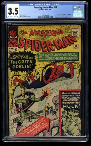 Amazing Spider-Man #14 CGC VG- 3.5 Off White to White 1st Green Goblin!