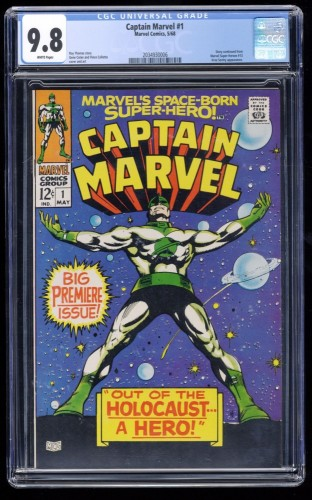 Captain Marvel #1 CGC NM/M 9.8 White Pages