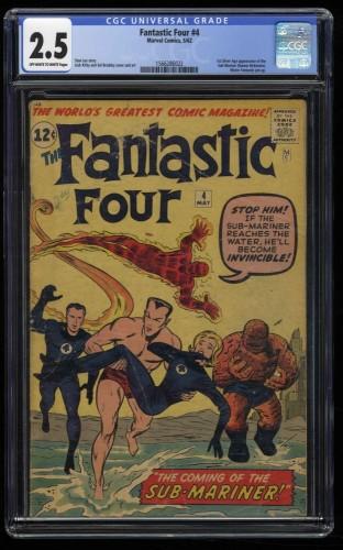 Fantastic Four #4 CGC GD+ 2.5 Off White to White