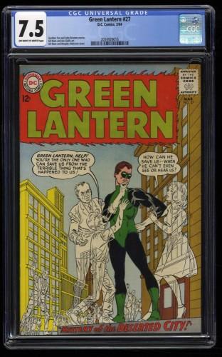 Green Lantern #27 CGC VF- 7.5 Off White to White