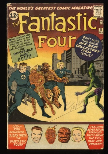 Fantastic Four #11 VG- 3.5 Marvel Comics
