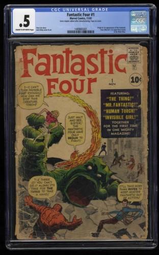 Fantastic Four #1 CGC P 0.5 Cream To Off White