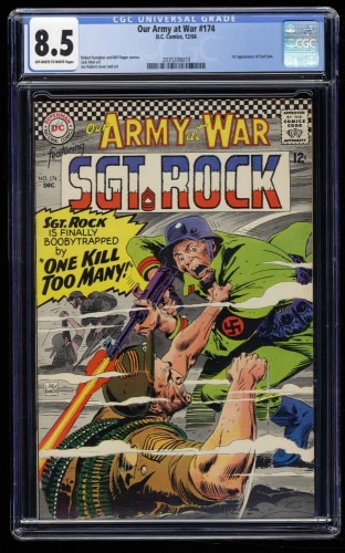 Our Army at War #174 CGC VF+ 8.5 Off White to White