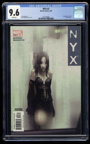 NYX #3 CGC NM+ 9.6 White Pages 1st X-23!