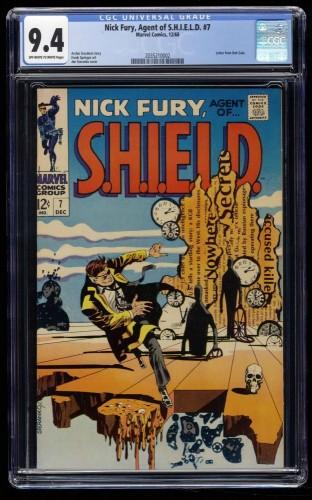 Nick Fury, Agent of SHIELD #7 CGC NM 9.4 Marvel Comics