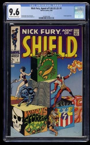Nick Fury, Agent of SHIELD #1 CGC NM+ 9.6 Off White to White Marvel Comics