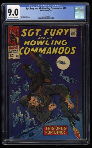 Sgt. Fury and His Howling Commandos #38 CGC VF/NM 9.0 Off White to White