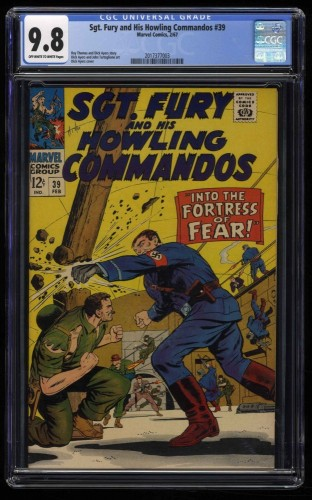 Sgt. Fury and His Howling Commandos #39 CGC NM/M 9.8 Off White to White