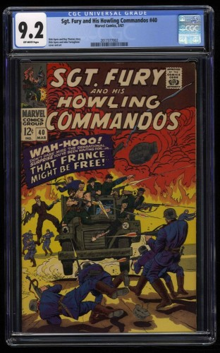 Sgt. Fury and His Howling Commandos #40 CGC NM- 9.2 Off White