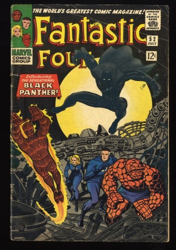 Fantastic Four #52 GD/VG 3.0 1st Black Panther! Marvel Comics